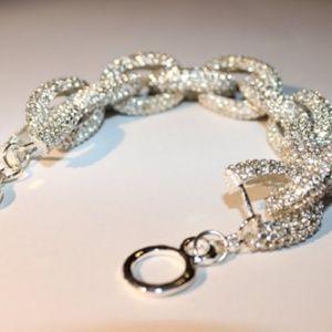 Pave Link bracelet - Silver - New, Never Worn
